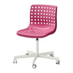 SKÅLBERG/SPORREN - Swivel chair, pink/white