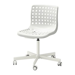 SPORREN/SKÅLBERG - Swivel chair, white