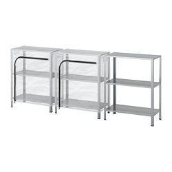 HYLLIS - Shelving units with covers, transparent