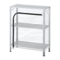 HYLLIS - Shelving unit with cover, transparent