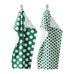ALVALISA - Tea towel, green/white