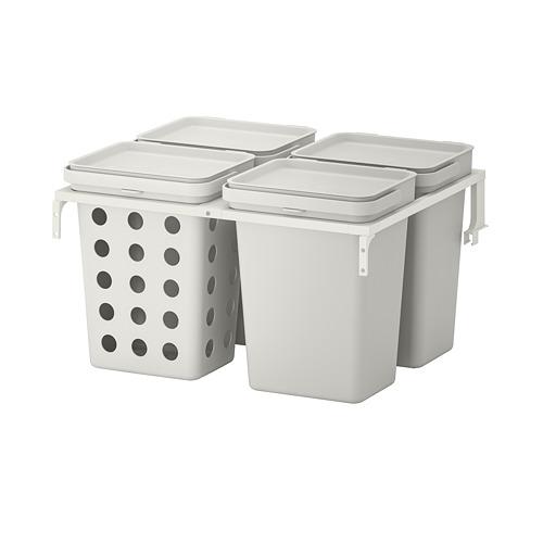 HÅLLBAR - solusi pemilah sampah, untuk laci dapur METOD berventilasi/abu-abu muda, 40 l | IKEA Indonesia - PE751242_S4