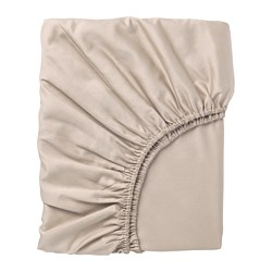 NATTJASMIN - Fitted sheet, light beige