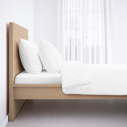 MALM - rangka tempat tidur, tinggi, veneer kayu oak diwarnai putih/Lönset, 120x200 cm | IKEA Indonesia - PE577790_S4