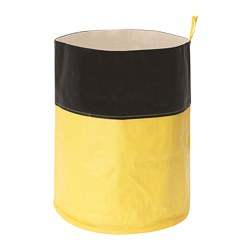 OGUNST - Waste sorting bag, black/yellow
