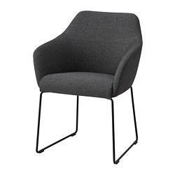 TOSSBERG - Chair, metal black/grey