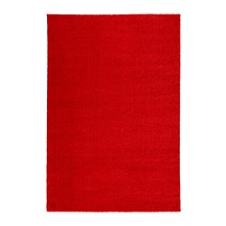 LANGSTED - Rug, low pile, red
