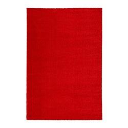 LANGSTED - Karpet, bulu tipis, merah