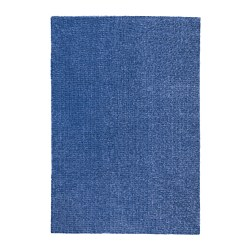 LANGSTED - Rug, low pile, dark blue