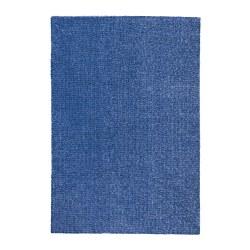 LANGSTED - Karpet, bulu tipis, biru tua
