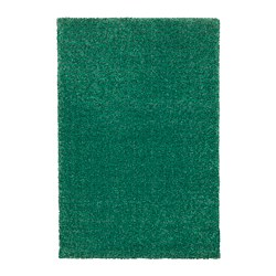LANGSTED - Karpet, bulu tipis, hijau