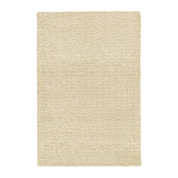 LANGSTED - Karpet, bulu tipis, krem