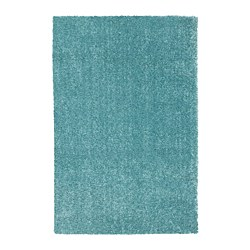 LANGSTED - Rug, low pile, turquoise