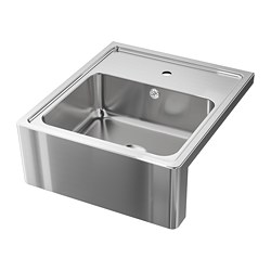 BREDSJÖN - Sink bowl w visible front, stainless steel