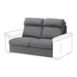 LIDHULT - Bagian sofa tempat tidur 2 dudukan, Lejde abu-abu/hitam