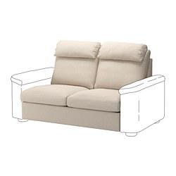 LIDHULT - Bagian sofa tempat tidur 2 dudukan, Gassebol krem muda