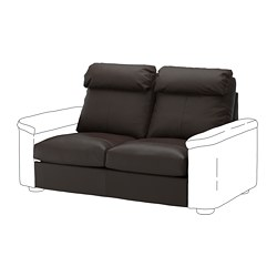 LIDHULT - Bagian sofa tempat tidur 2 dudukan, Grann/Bomstad cokelat tua