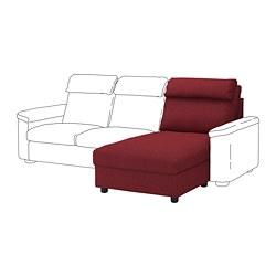 LIDHULT - Bagian chaise longue, Lejde merah-cokelat
