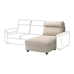 LIDHULT - Bagian chaise longue, Gassebol krem muda