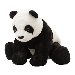 KRAMIG - Soft toy, white/black
