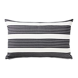 METTALISE - Cushion cover, white/dark grey