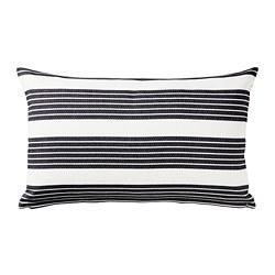 METTALISE - Sarung bantal kursi, putih/abu-abu tua