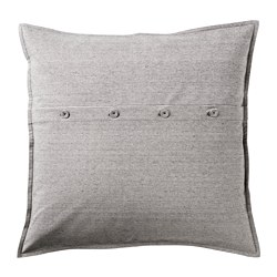 KRISTIANNE - Cushion cover, white/dark grey striped
