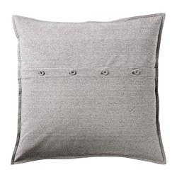 KRISTIANNE - Sarung bantal kursi, putih/abu-abu tua garis-garis