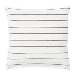 KONSTANSE - KONSTANSE, bantal kursi, putih/abu-abu tua, 40x40 cm