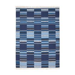 TRANGET - Karpet, anyaman datar, buatan tangan berbagai nuansa biru