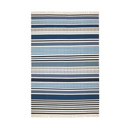 VONSILD - Rug, flatwoven, handmade assorted blue shades