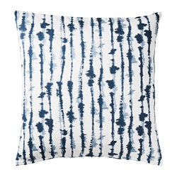 STRIMSPORRE - Cushion cover, white/blue