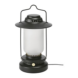 STORHAGA - LED table lamp, dimmable outdoor/black