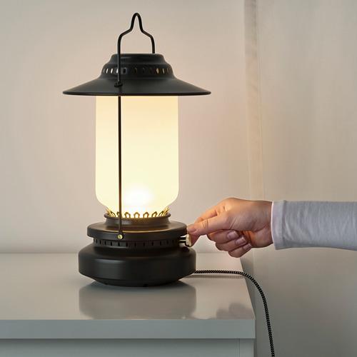 STORHAGA - Lampu meja LED, dapat diredupkan luar ruang/hitam, 35 cm | IKEA Indonesia - PE752473_S4