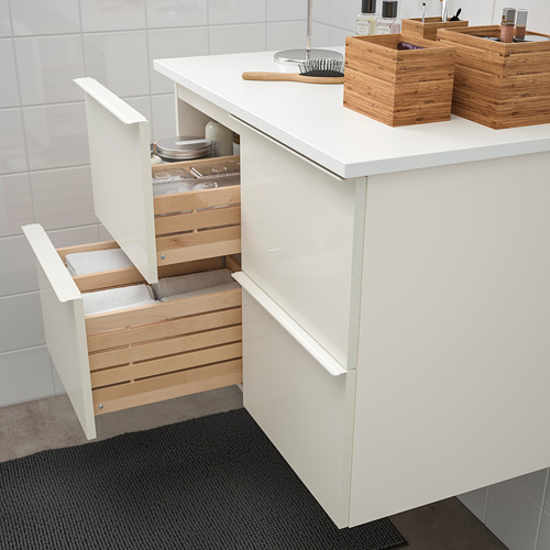 GODMORGON/TOLKEN meja wastafel dengan 4 laci