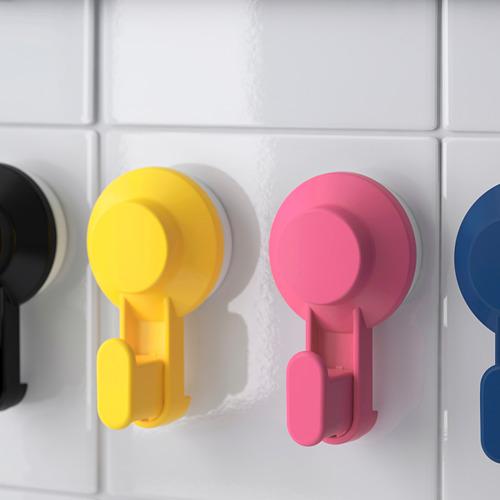 TISKEN - pengait dengan plastik hisap, warna campuran   IKEA Indonesia - PE704369_S4