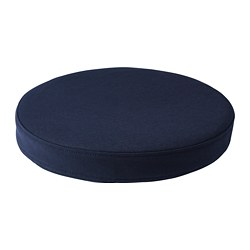 OMTÄNKSAM - Chair cushion, Orrsta black-blue