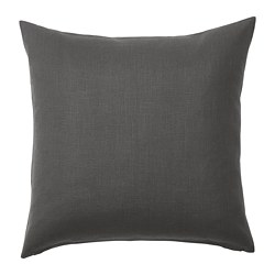 VIGDIS - Cushion cover, black-grey