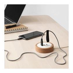 NORDMÄRKE - Charger USB, putih/gabus