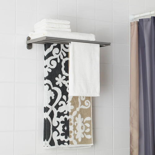 BROGRUND rak dinding dengan gantungan handuk