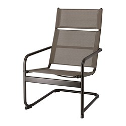 HUSARÖ - Armchair, outdoor, dark grey