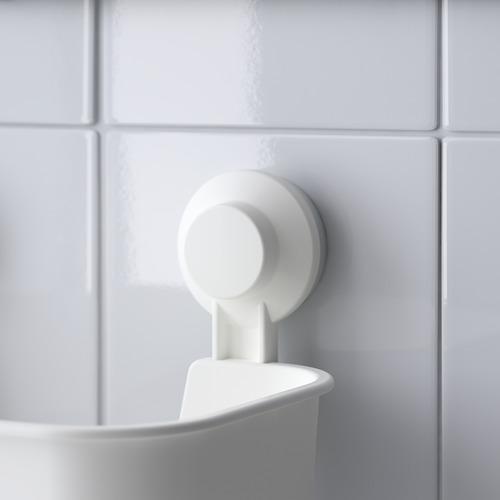 TISKEN - keranjang dg plastik hisap, putih | IKEA Indonesia - PE704364_S4