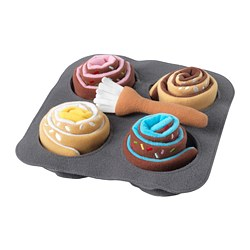 DUKTIG - 6-piece roll set, cinnamon/bun