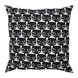GERDIE - Bantal kursi, putih/hitam kucing