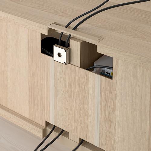 BESTÅ - meja TV, efek kayu oak diwarnai putih, 120x40x38 cm   IKEA Indonesia - PE753010_S4
