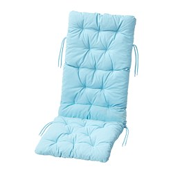 KUDDARNA - Seat/back cushion, outdoor, light blue