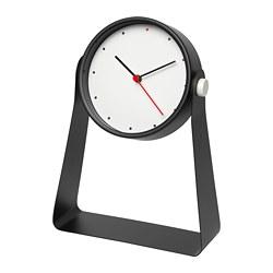 GNISSLA - Table clock, black