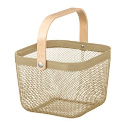 RISATORP - Basket, light olive-green