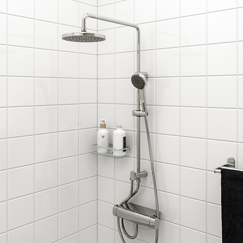 BROGRUND - head/handshower kit with diverter, chrome-plated   IKEA Indonesia - PE668865_S4