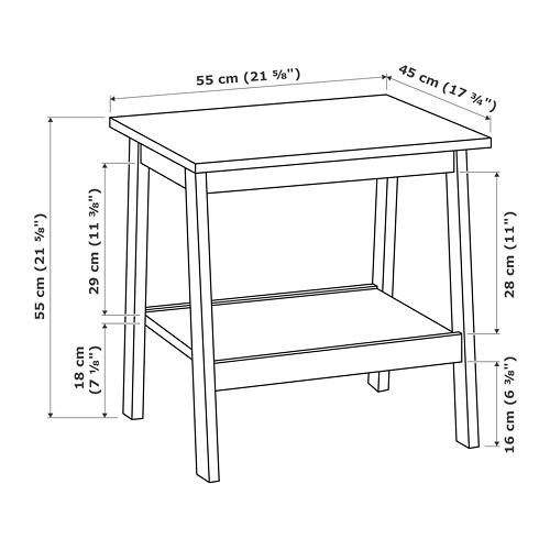 LUNNARP meja samping